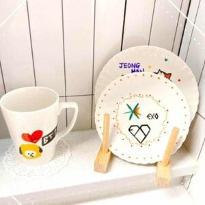Make a Personalized K-pop Star Plate – let's design a customized K-pop plate with our K-pop lovers