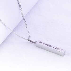 Stray kids Name and Debut Year Necklace