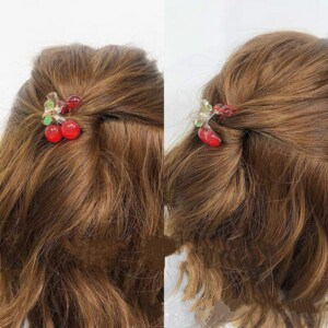 2pc Lovely Small Cherry Hair Claw Clips